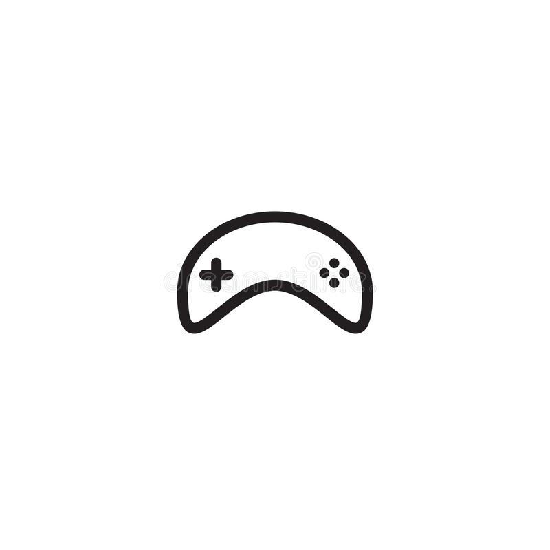 Game controller logo design template royalty free illustration