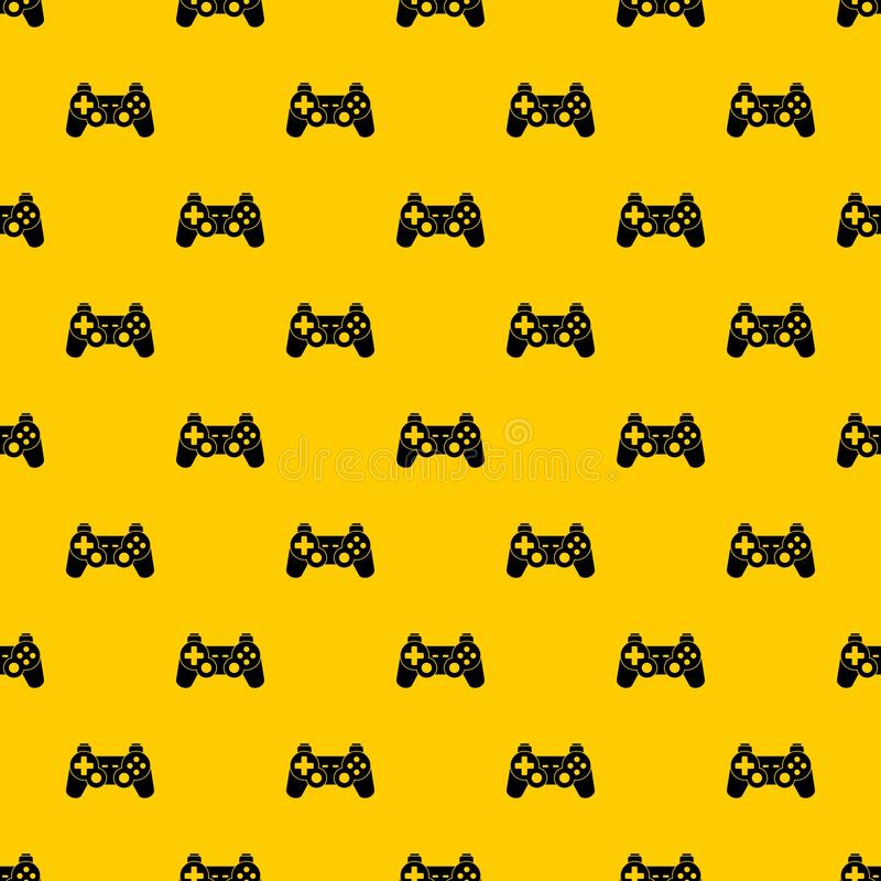 Game controller pattern vector. Game controller pattern seamless vector repeat geometric yellow for any design stock illustration