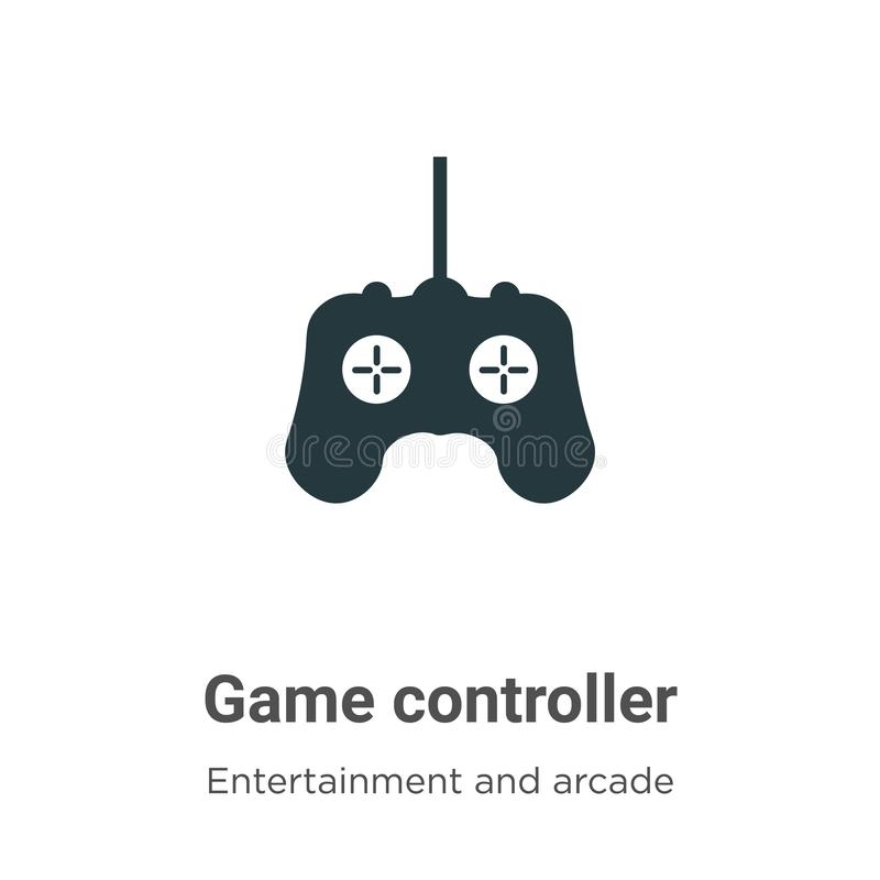 Game controller vector icon on white background. Flat vector game controller icon symbol sign from modern entertainment and arcade. Collection for mobile royalty free illustration