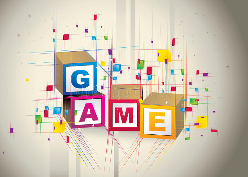 Game cubes box