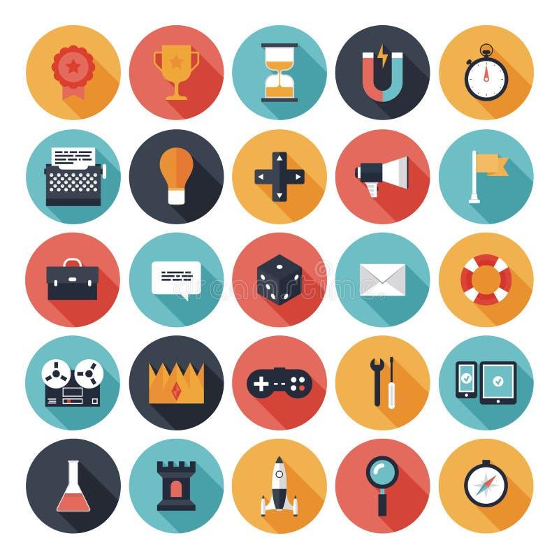 Free Game Design Flat Icons Set Royalty Free Stock Photography - 34525187