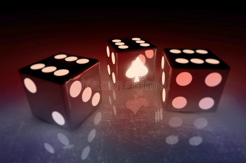 Game dice royalty free stock images
