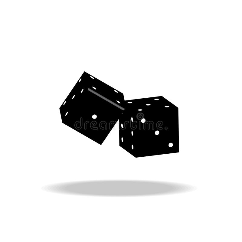 Game dices vector illustration on white background royalty free stock images