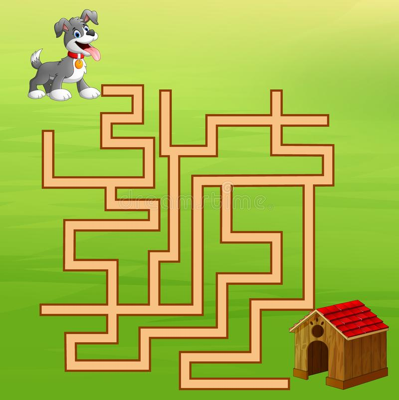 Game dog maze find way to the home royalty free illustration