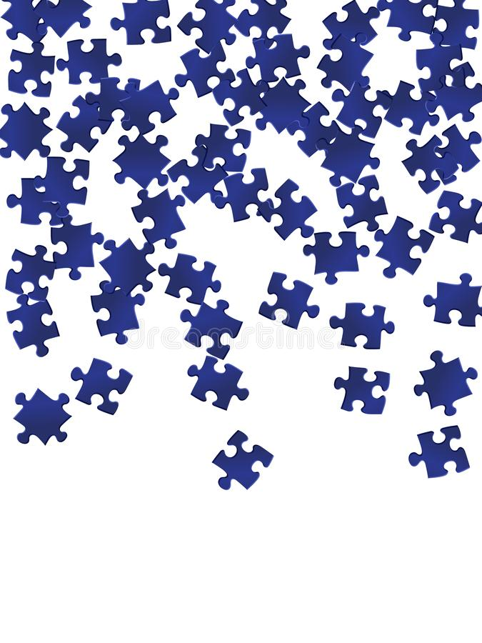 Game enigma jigsaw puzzle dark blue pieces vector royalty free illustration