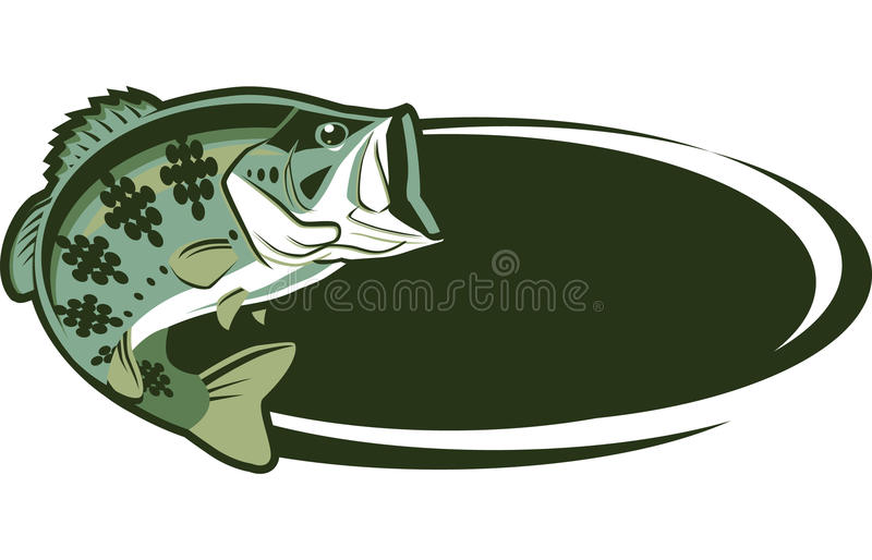 Download Game Fish stock vector. Image of largemouth, bass, green - 22352412