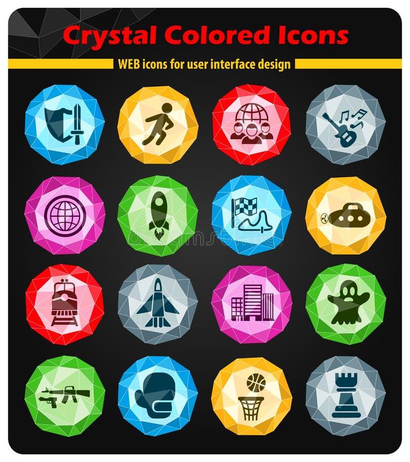 game genre icon set royalty free illustration