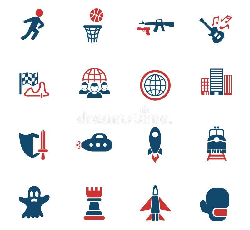 Game genre icon set vector illustration