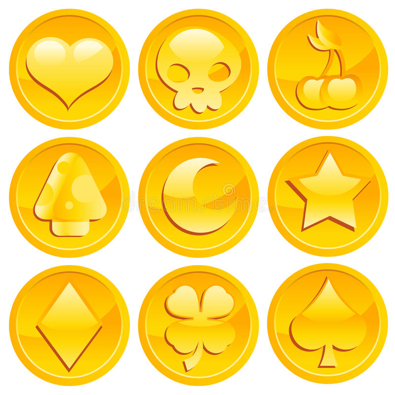 Download Game Gold Coins Stock Photo - Image: 22724620