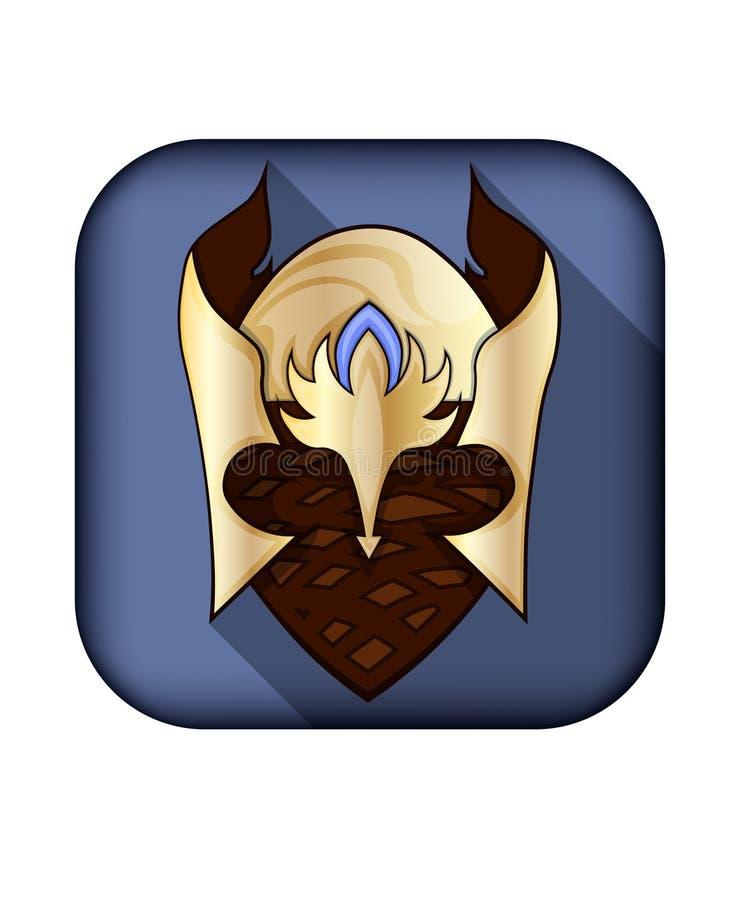 Game helmet icon stock images