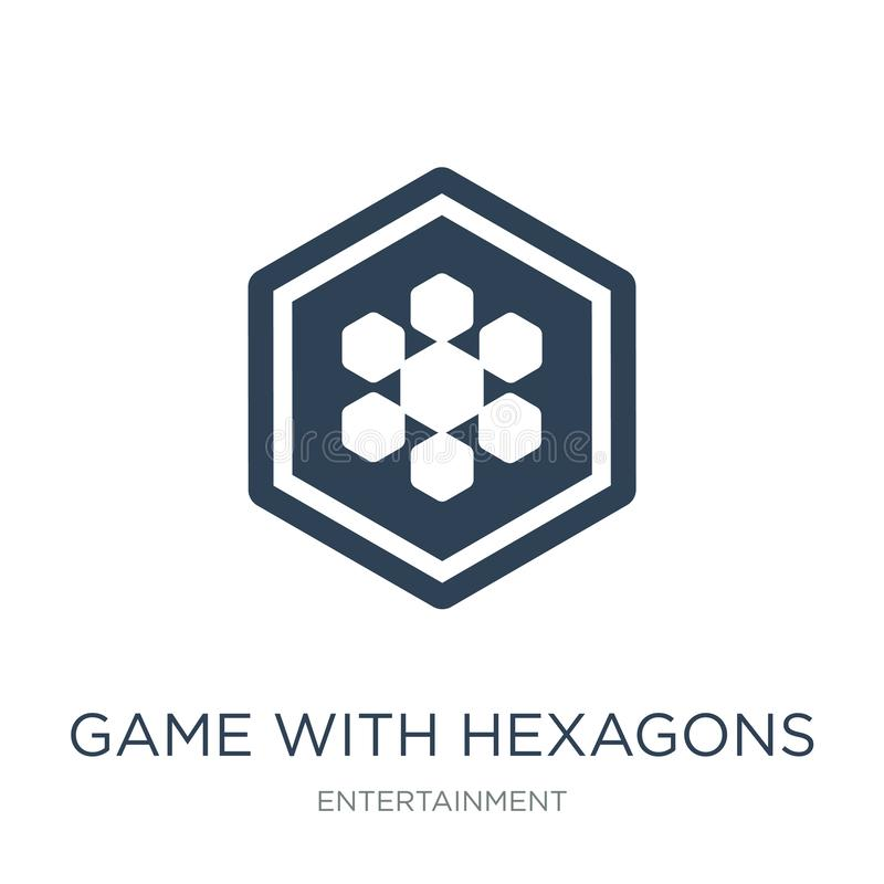 Game with hexagons icon in trendy design style. game with hexagons icon isolated on white background. game with hexagons vector. Icon simple and modern flat vector illustration