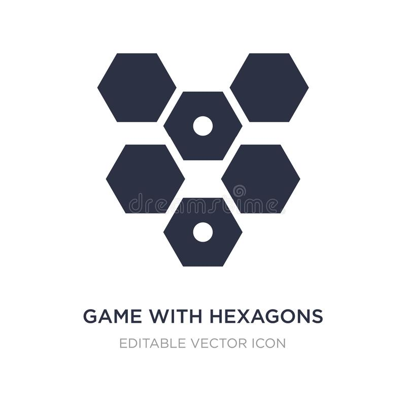 Game with hexagons icon on white background. Simple element illustration from Entertainment concept. Game with hexagons icon symbol design stock illustration