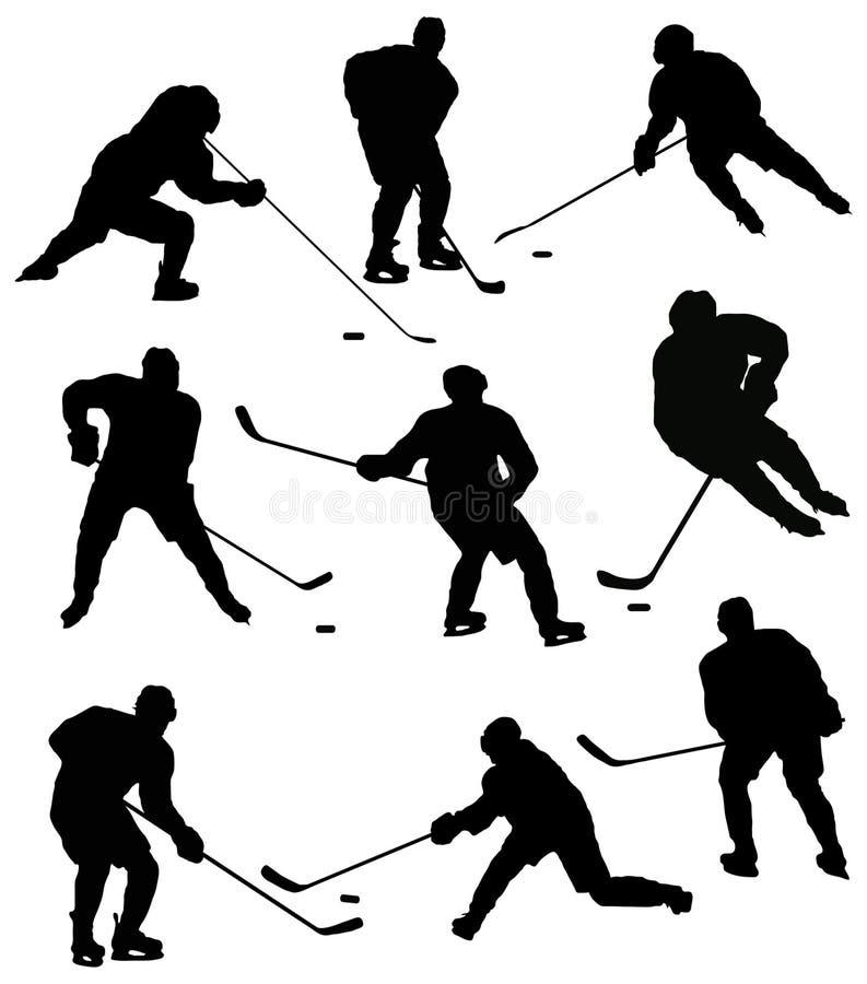 Game in hockey stock illustration