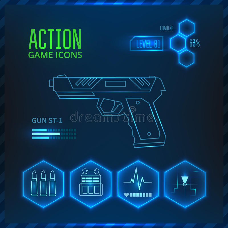 Game icon weapon royalty free illustration