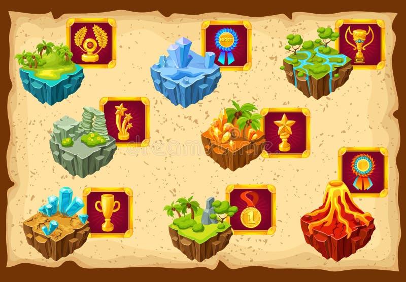 Game Islands Ground Landscape royalty free illustration