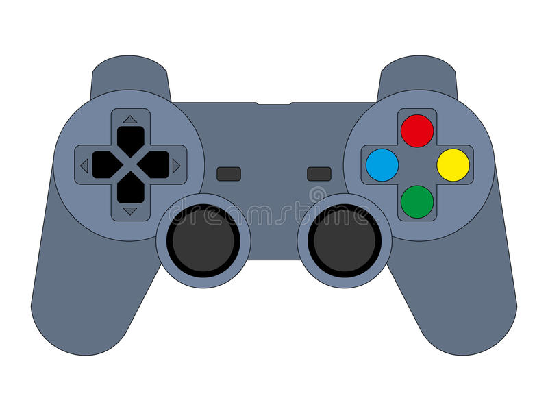 Download Game joypad (controller) stock vector. Image of entertainment - 18348376