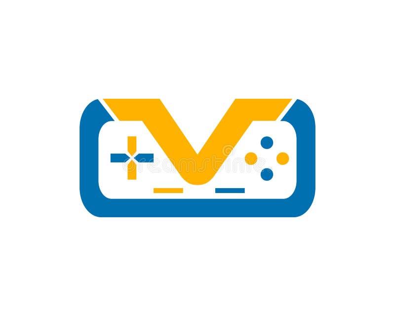 Game Joystick Or Device Controller Logo stock illustration