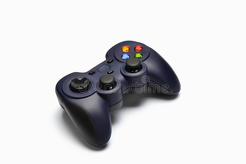 Game joystick. On whtie background royalty free stock photography