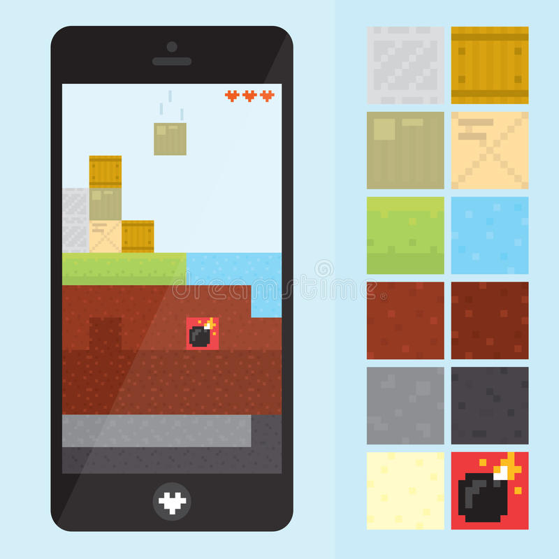 Game level for gadgets vector illustration