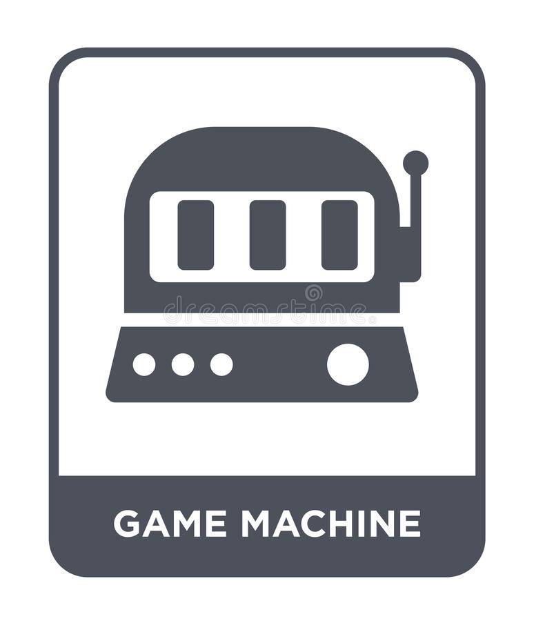 Game machine icon in trendy design style. game machine icon isolated on white background. game machine vector icon simple and. Modern flat symbol for web site royalty free illustration