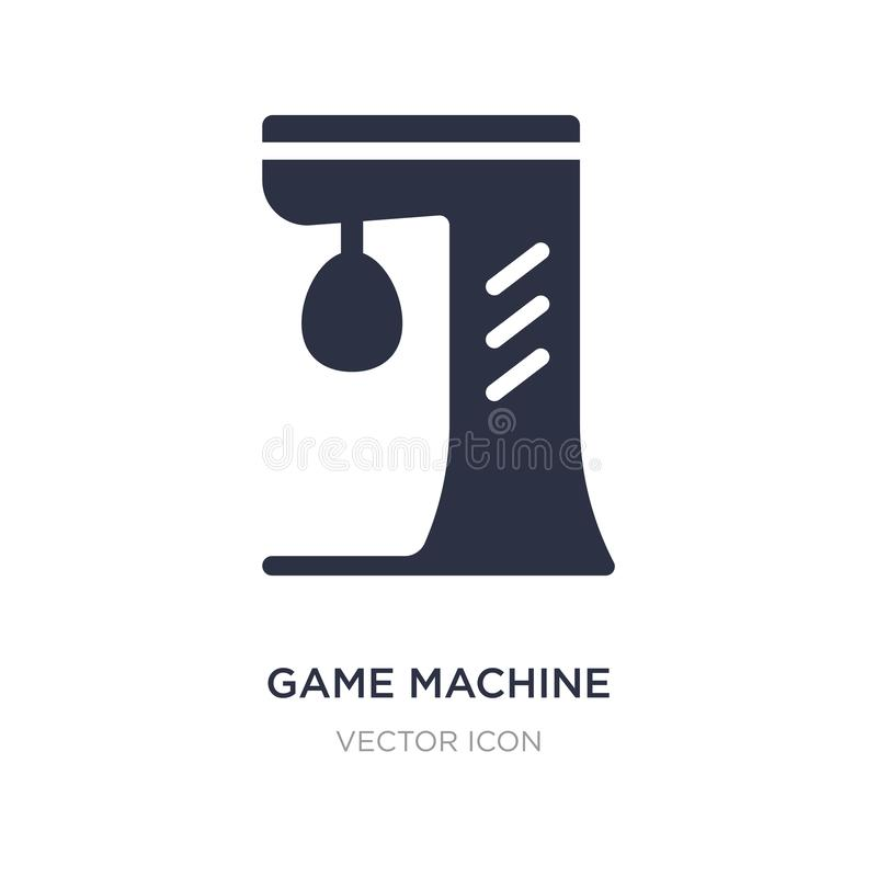 Game machine icon on white background. Simple element illustration from Entertainment and arcade concept. Game machine sign icon symbol design stock illustration