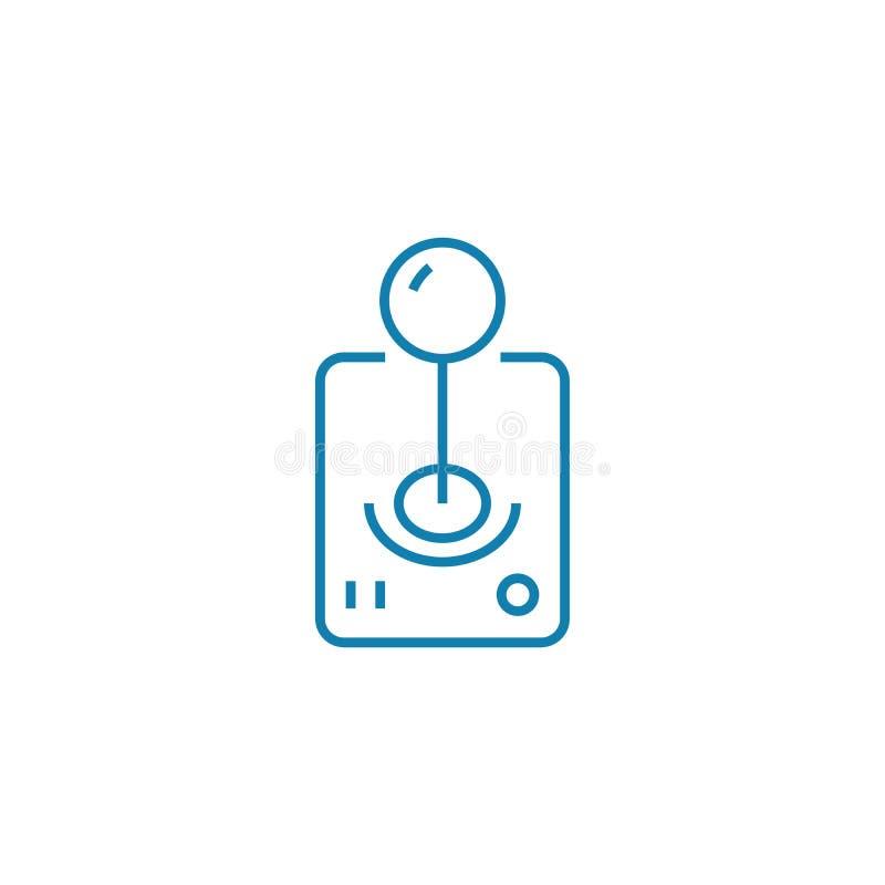 Game manipulator linear icon concept. Game manipulator line vector sign, symbol, illustration. Game manipulator line icon, vector illustration. Game manipulator royalty free illustration