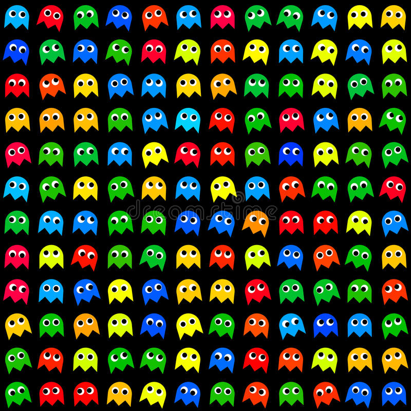 Free Game Monsters Seamless Generated Pattern Stock Images - 47841584