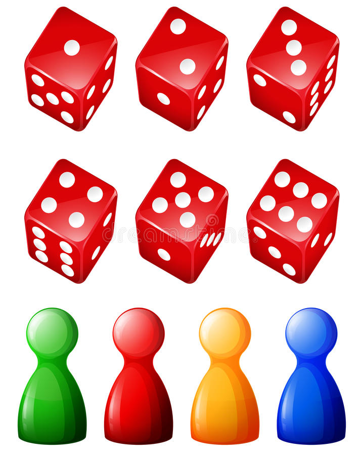 Game objects vector illustration