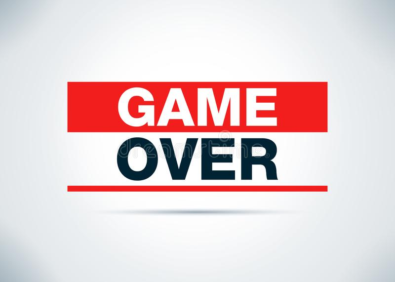 Game Over Abstract Flat Background Design Illustration. Game Over Isolated on Abstract Flat Background Design Illustration stock illustration