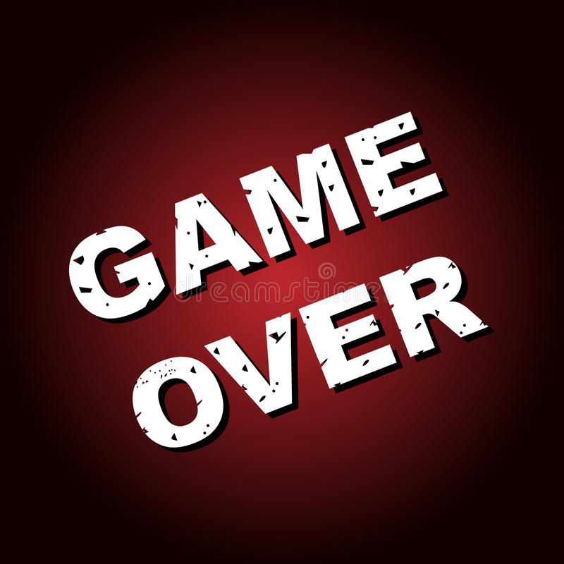 Game over background royalty free stock photography