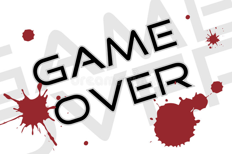 Download Game over background stock vector. Image of splash, fleck - 13392928