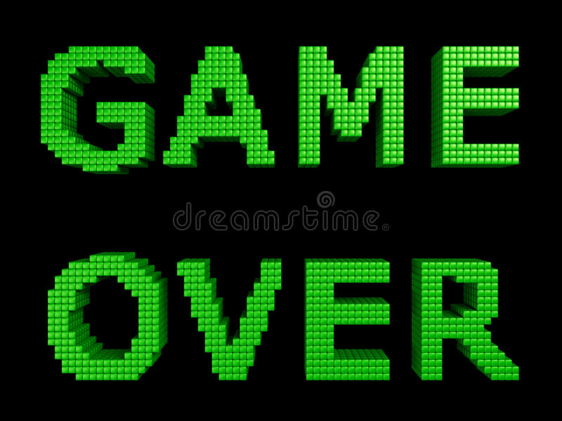 Download Game over green text stock illustration. Image of movie - 33363639