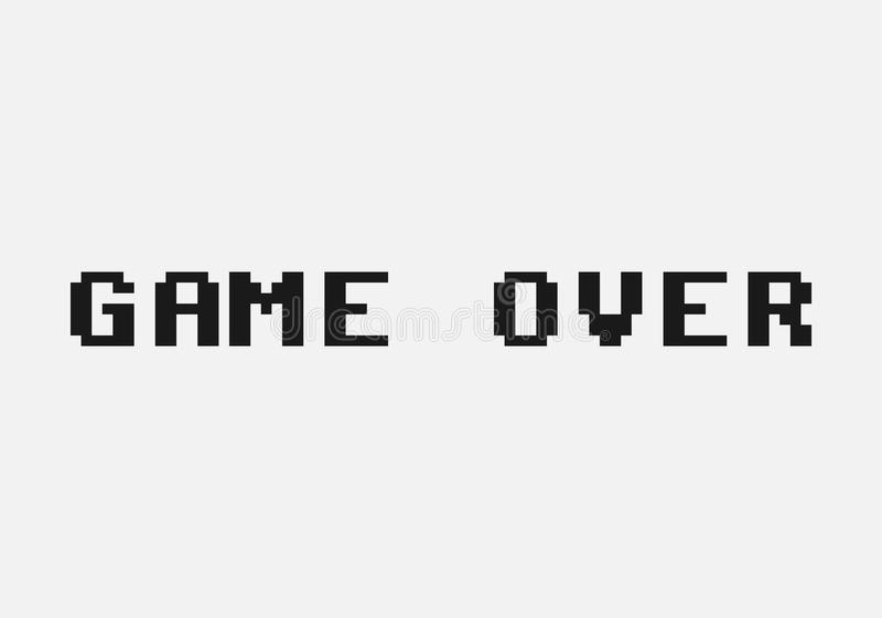 Game over. Isolated on background. Vector illustration. Eps 10 vector illustration