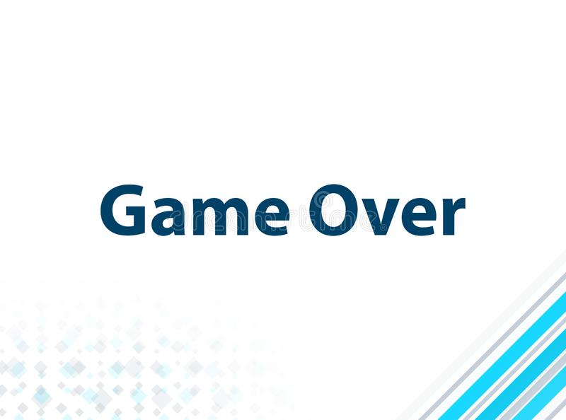 Game Over Modern Flat Design Blue Abstract Background. Game Over Isolated on Modern Flat Design Blue Abstract Background vector illustration