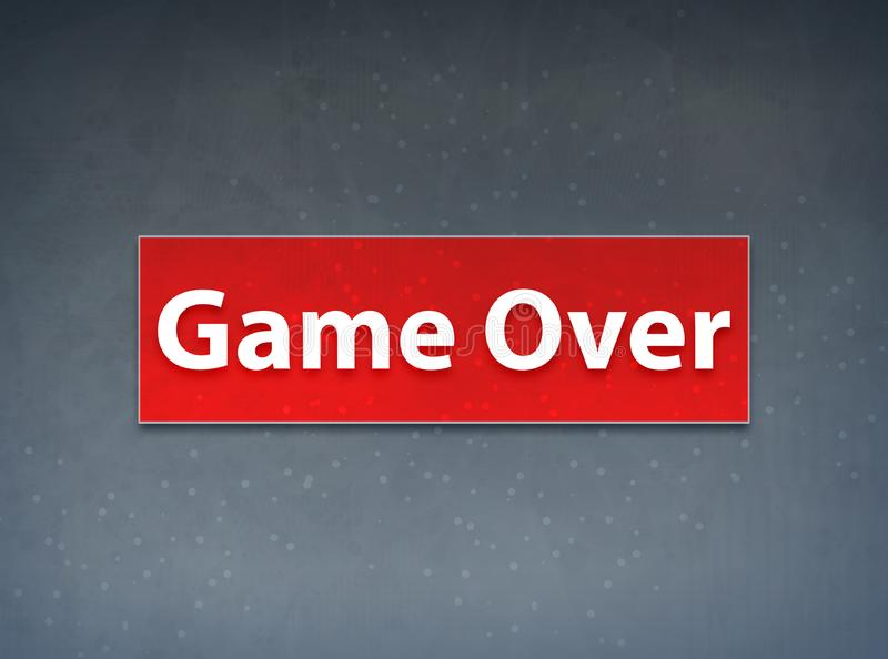Game Over Red Banner Abstract Background. Game Over Isolated on Red Banner Abstract Background illustration Design stock illustration
