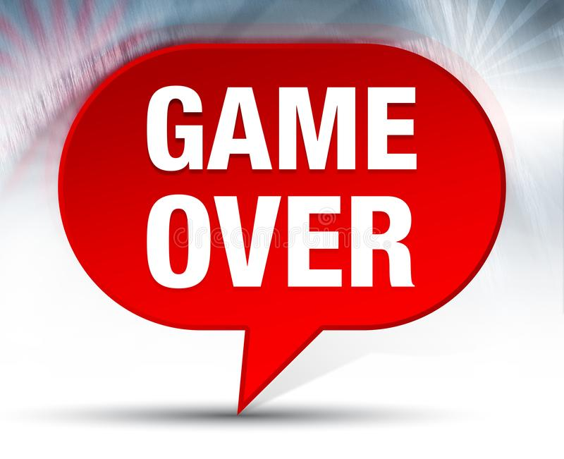 Game Over Red Bubble Background. Game Over Isolated on Red Bubble Background vector illustration