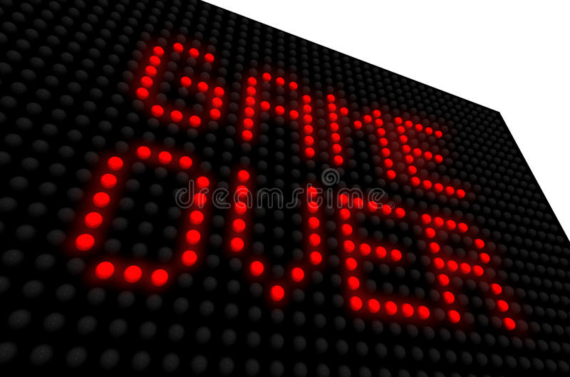 Game over sign stock photography