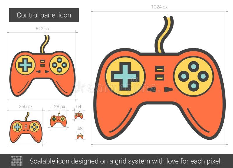 Game pad line icon. vector illustration
