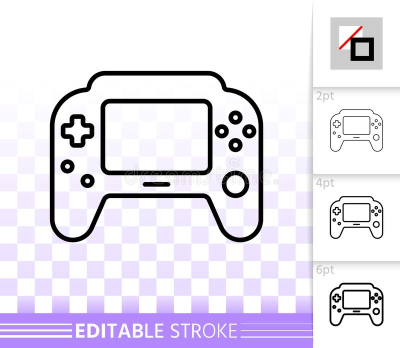 Game Pad simple black line vector icon stock illustration