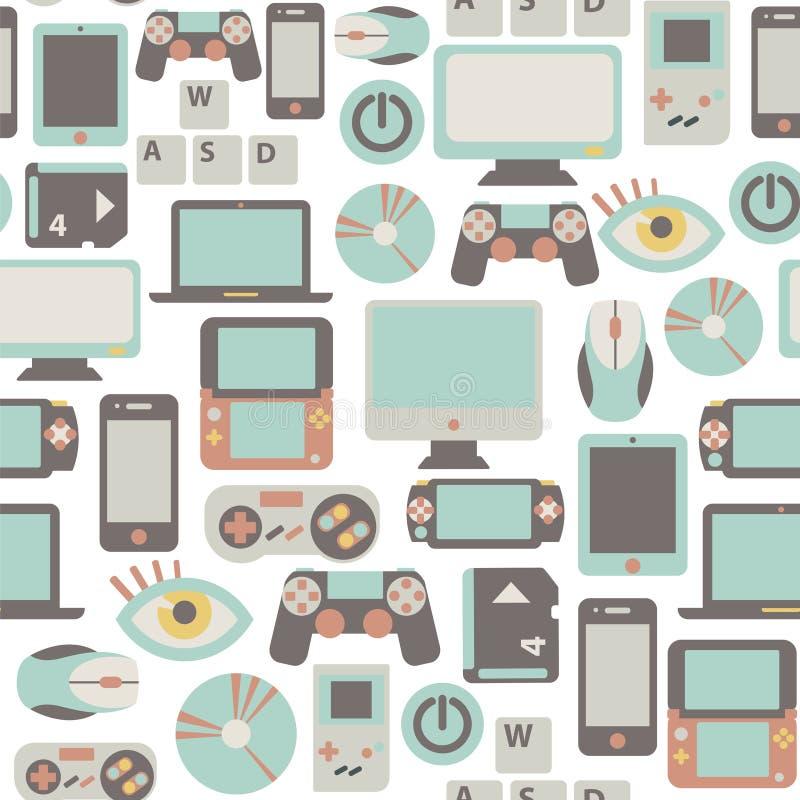 Game pattern royalty free illustration