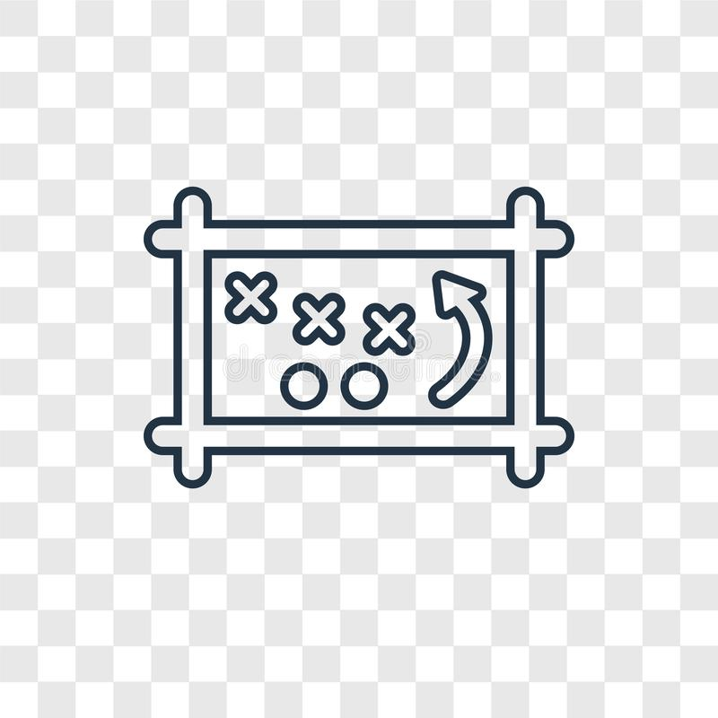 Game planning concept vector linear icon isolated on transparent stock illustration