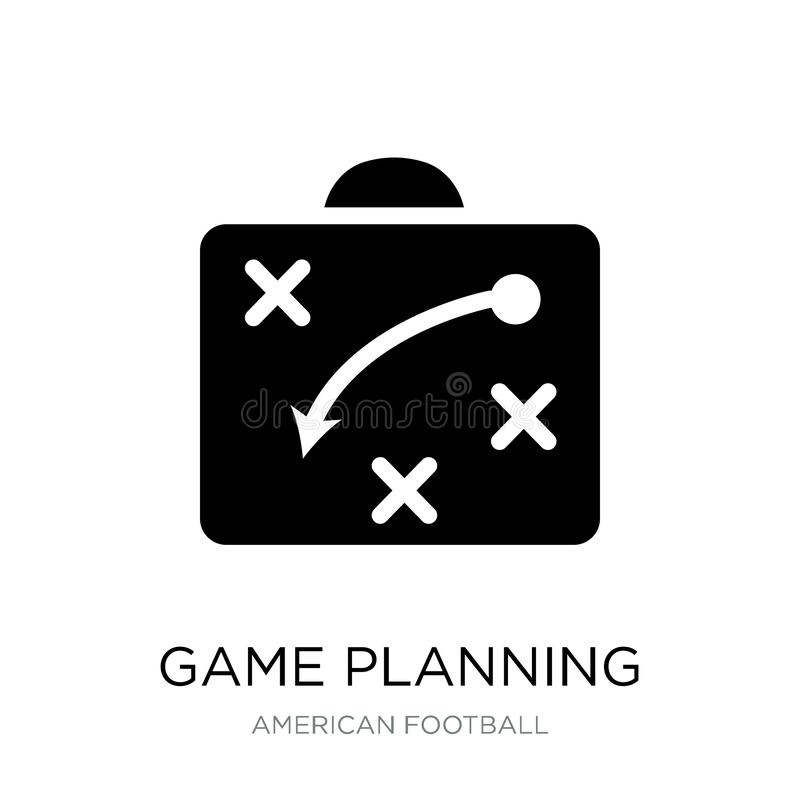 game planning icon in trendy design style. game planning icon isolated on white background. game planning vector icon simple and royalty free illustration