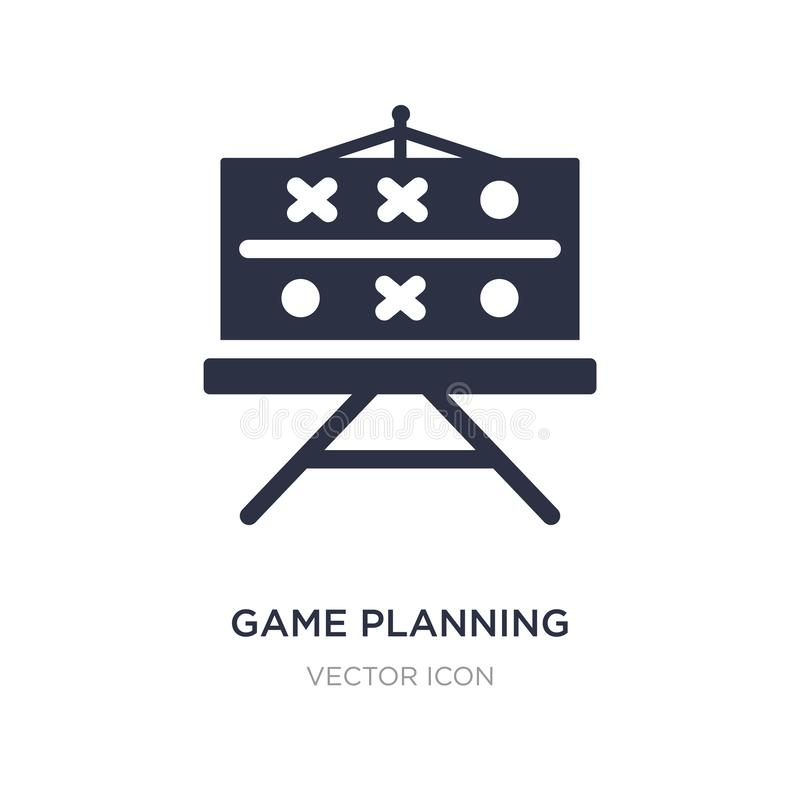 Game planning icon on white background. Simple element illustration from American football concept. Game planning sign icon symbol design royalty free illustration
