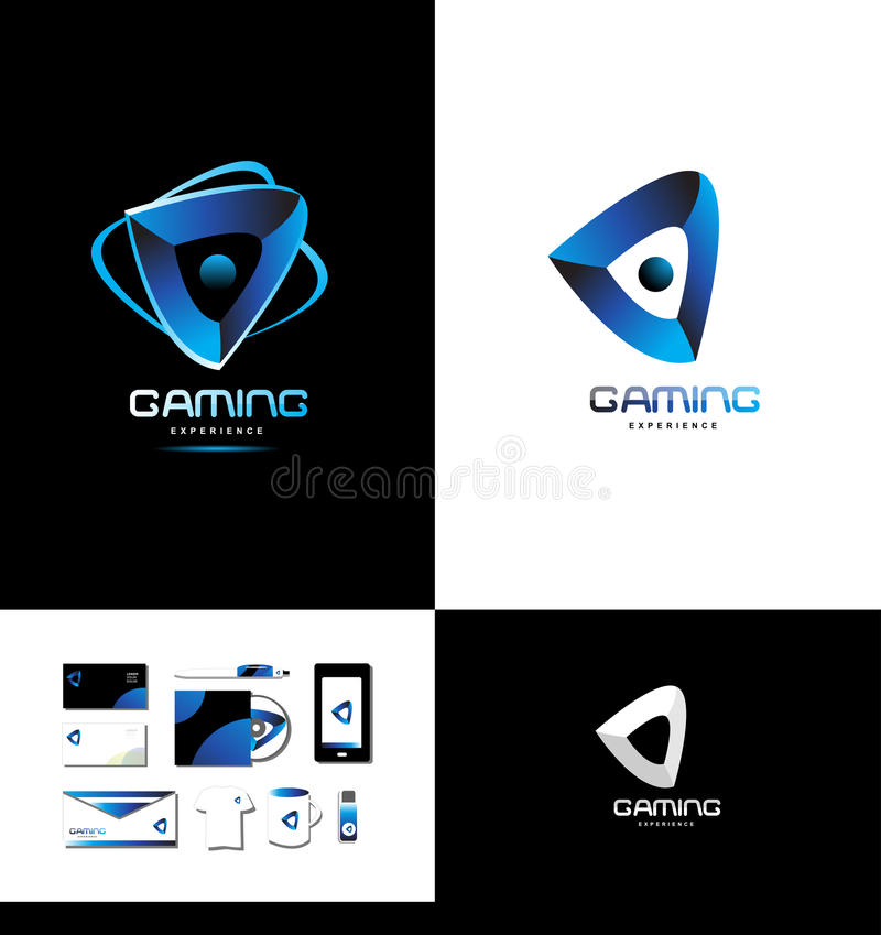 Game Playing Gaming Logo Stock Vector. Illustration Of Concept