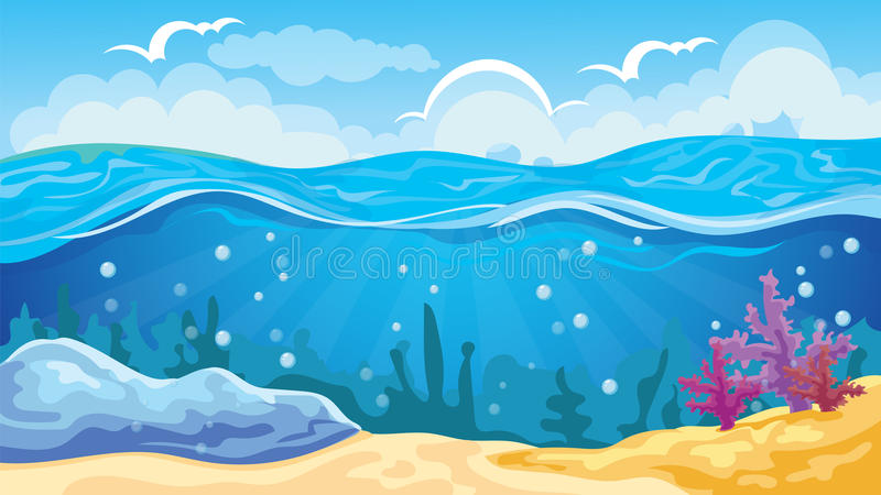 Game Seascape Background vector illustration