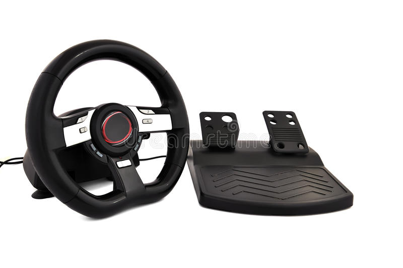 Download Game steering wheel stock image. Image of black, pedal - 19456093