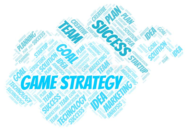 Game Strategy word cloud vector illustration