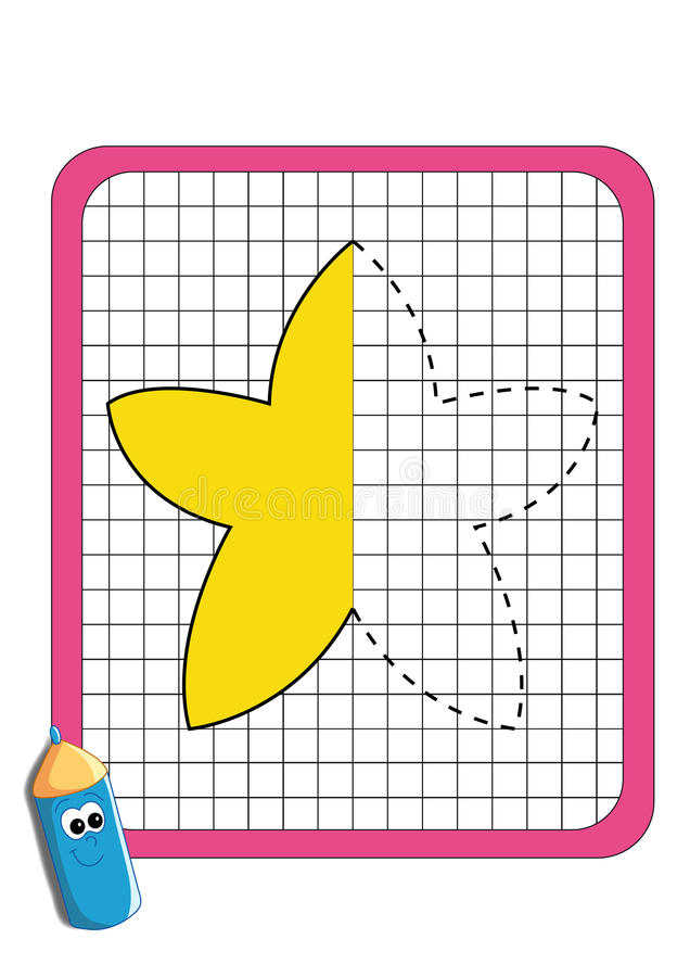 Download The Game Of The Symmetry,  Star Stock Illustration - Image: 29297638