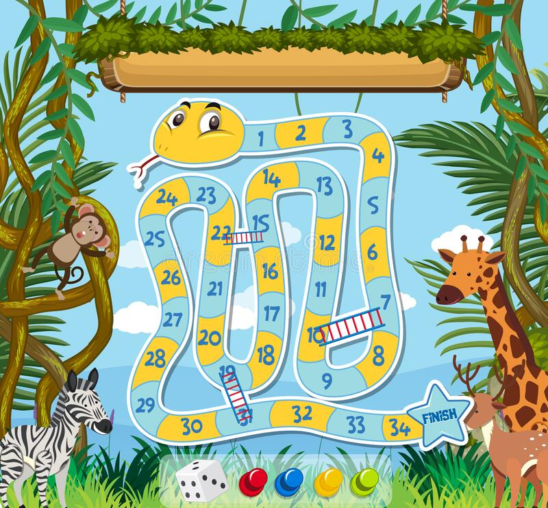 Premium Vector   Snakes and ladders board game