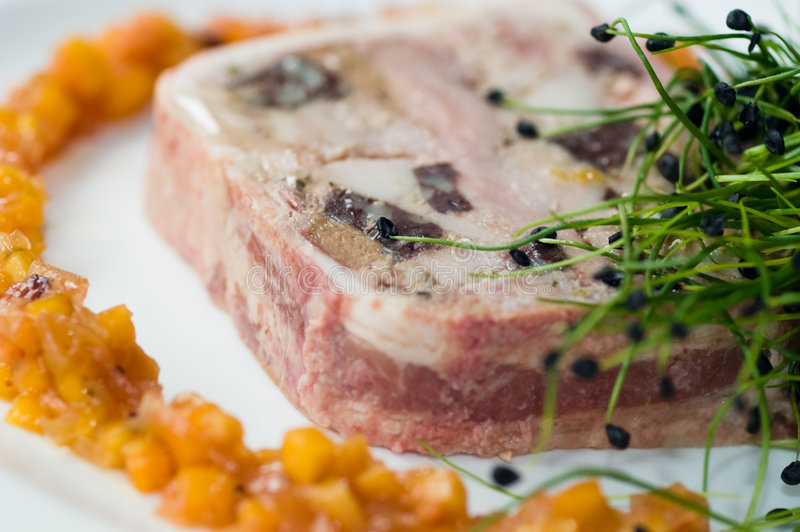 Download Game terrine stock image. Image of gelatin, pork, delicious - 7781437